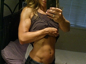 This was me in 2011, the week before my first figure show at about 114 lbs. This is NOT my normal, natural look. This was hard work and a life that was solely focused for MANY months on strict diet and exercise.